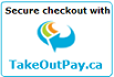 Secure checkout with TakeOutPay.ca